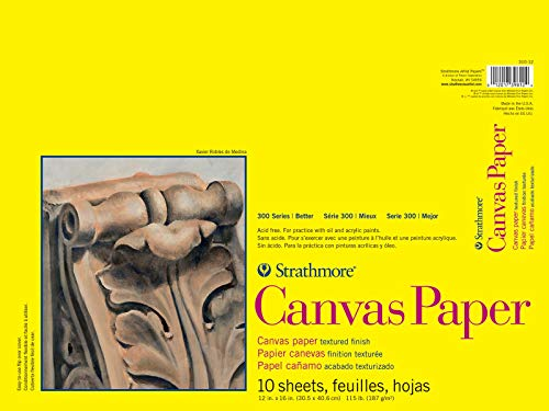 """Strathmore (310-12) 300 Series Canvas Pad, 12""""x16"""", 10 Sheets"""