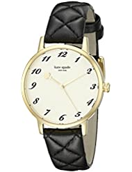 kate spade new york Womens 1YRU0788 Metro Analog Display Japanese Quartz Black Watch