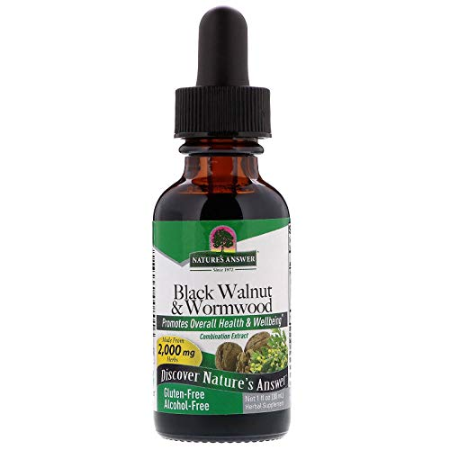 - Natures Answer Black Walnut and Wormwood 1 oz 30mL 200mg. Extract