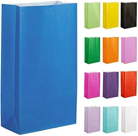 Thepaperbagstore 10 Papiertüten für Partys und Geschenke - Blau - 140x245x70mm