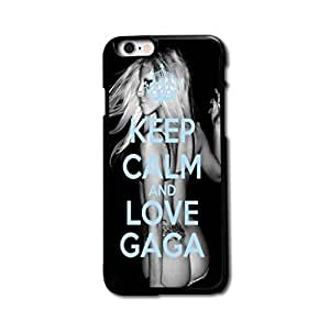 Custom Design Keep Calm and Love Gaga Hard Plastic Case Cover For iPhone 6 4.7 Inch