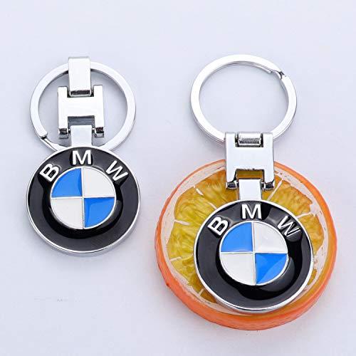 2 Pack Bmw Key Chain Both Side Bmw Brand Logo Key Ring Special