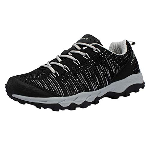 Couple Mesh Breathable Hiking Shoes Lightweight Non-Slip Outdoor Walking Shoes