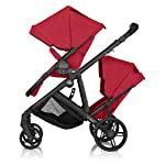 Britax B Ready Double Buggy - Tandem Pushchair 2 Seater Stroller - 3 Colour Options (Red)