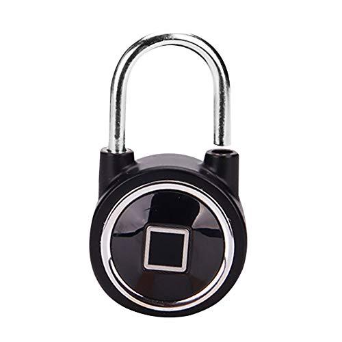 Vovomay Fingerprint Smart Keyless Lock Waterproof APP/Fingerprint Unlock Anti-Theft Padlock Door (Black)