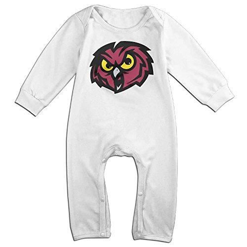 Price comparison product image OOKOO Baby's Temple University Owls Bodysuits Outfits White 12 Months