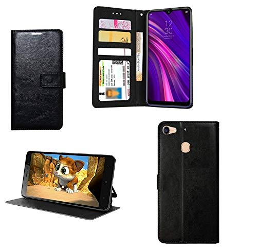 COVERNEW Leather Finish Inside TPU Wallet Stand Magnetic Closure Flip Cover for LeEco Le 1S   Venom Black