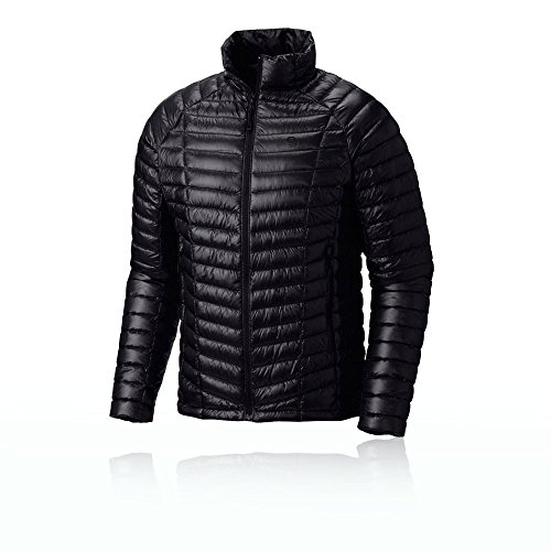 Mountain Hardwear Mens Ghost Whisperer Insulated Down Water Repellent Jacket, Non-Hooded - Black - S