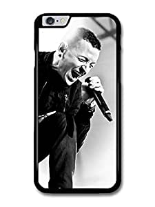 "AMAF ? Accessories Chester Bennington Black and White Linking Park Singing case for iPhone 6 Plus (5.5"")"