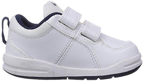 Nike Pico 4 (TDV) 454501-014 Baby - Jungen Lauflernschuhe Sneaker Weiß (White/Midnight Navy)