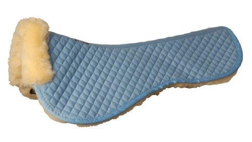 Roma Sheepskin Half Pad W/Full Rolled Edges White/