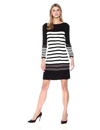 Sandra Darren Womens 1 Pc Plus Size 3//4 Sleeve Fit /& Flare Sweater Dress Casual Dress