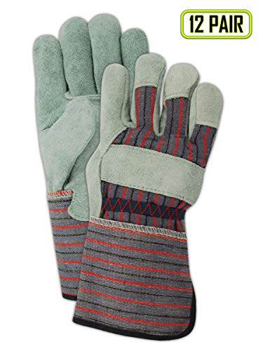 Magid Glove & Safety TG725IEXL Magid DuraMaster TG725IE Shoulder Split Leather Palm Gloves, 11, Gray, XL (Pack of 12) ()
