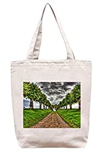dirt-road–algodón Canvas Tote Bag