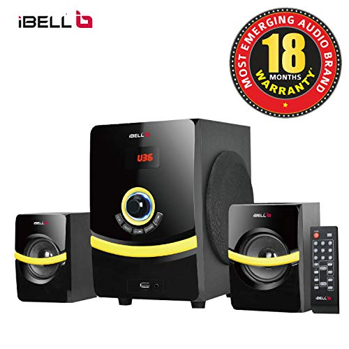 iBELL R260 45 Watts 2.1 Multimedia Home Theatre Speaker System with Bluetooth|FM|USB & Include Bass Control knob, Full Function Remote