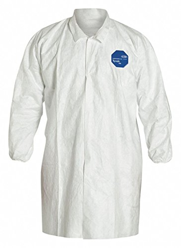 Tyvek White Lab Coat - Dupont White Tyvek 400 Disposable Lab Coat, Size: 3XL 3XL White Tyvek(R) 400 TY211SWH3X003000-1 Each