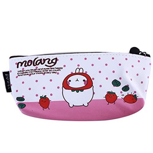 LZIYAN Cartoon Rabbit Pencil Case Cute Stationery Storage Bag Waterproof Cosmetic Bag School Supplies For Students,Pink by LZIYAN (Image #1)