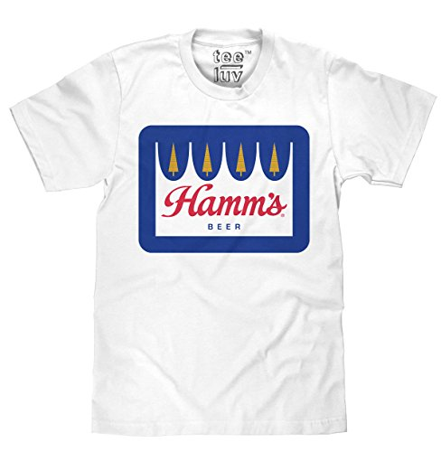 Tee Luv Hamm's Beer T-Shirt - Hamms Crown Logo Beer Shirt (XX-Large) ()