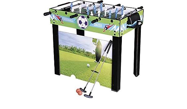 XTURNOS Futbolin 3 en 1 Varillas Telescópicas 98x55x74 cm.: Amazon ...