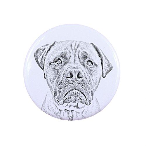 Bullmastiff, a Button, Badge with a -