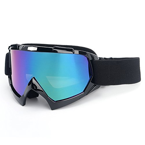 Motorcycle Goggles,Sposune ATV Dirt Bike Off Road Racing MX Riding Goggle Anti-Scratch Dustproof Bendable UV400 Eyewear with Padded Soft Thick Foam,Adjustable Strap for Adults' Cycling (Goggles Eyewear)