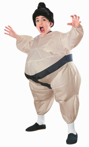 Child's Inflatable Sumo Costume with Battery Operated Fan