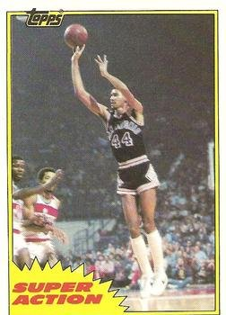 1981 Topps Regular (Basketball) Card# 150 MW106: George Gervin of the San Antonio Spurs NrMt Condition