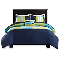 Comfort Spaces - Pierre Comforter Set - 4 Piece - Dark...