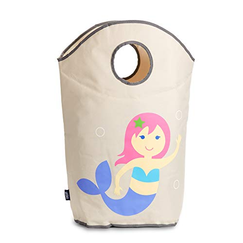 Wildkin Laundry Hamper, Features Mesh Bottom and Two Top Carrying Handles, Perfect for Promoting Organization, Coordinates with Other Room Décor, Olive Kids Design – Mermaids