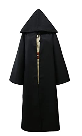 halloween costume men adult cosplay outfit hooded battle uniform black s - Amazon Halloween Costumes Men