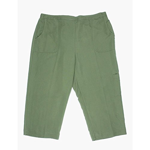 Alfred Dunner Womens Call of the Wild Cargo Capris 8 Olive