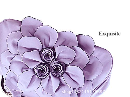 3d À Élégant Fleur Yan Show Bandoulière Noir Femme Main Grand Bourse Pu Sac WtOt4wq0a