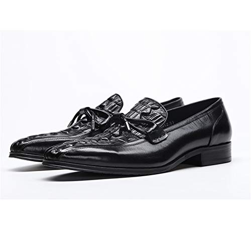 Eu Scarpe Morbida For Nero Slip Leather Ywqwdae On Nero Modello colore Shoes Resistente Men Genuine Coccodrillo Dimensione Suola 44 afCCq7xH