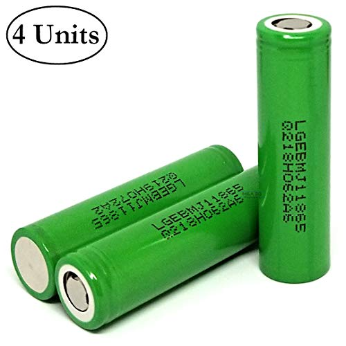 (M&A BD 4pcs MJ1 3500mAh 10A 3.7V Rechargeable LG Lithium-ion Flat Top Battery for Electric Tools, Toys, LED Flashlights, Torch, and Etc)