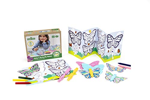 Green Toys Sesame Street Abbys Butterfly Maker Coloring Activity Set, Multicolor