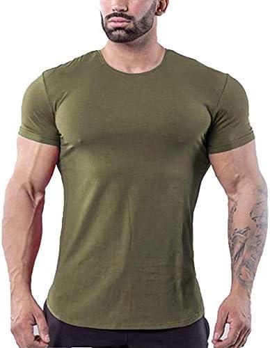 メンズ 無地 半袖 tシャツ インナー ボディフィット ワイルドカットソー細身 フィットネス トレーニング 筋トレ スポーツ おしゃれ速乾性