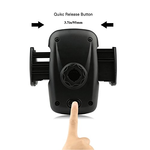 Beam Electronics Universal Smartphone Car Air Vent Mount Holder Cradle Compatible with iPhone X 8 8 Plus 7 7 Plus SE 6s 6 Plus 6 5s 5 4s 4 Samsung Galaxy S6 S5 S4 LG Nexus Sony Nokia and More…