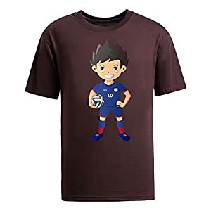 Custom Mens Cotton Short Sleeve Round Neck T-shirt,2014 Brazil FIFA World Cup UP71 brown