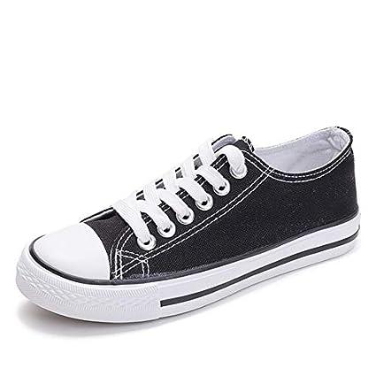 Amazon.com: JingZhou Women Canvas Shoes 2018 White Sneakers Flat Casual Tenis Feminino Woman Zapatos de Mujer Plus Size 43 H163: Garden & Outdoor