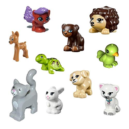 Small and Cute! LEGO Friends Elves Minifigure 3 Fox Combo Animals Accessory