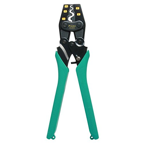 Pro'sKit CP-251B Ratcheted Crimper for Non-Insulated Terminals, AWG 22-6