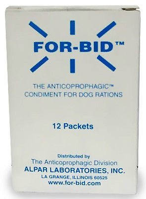 For-Bid for DOGS Stop Stool Eating Coprophagic (12 Packets) by Forbid
