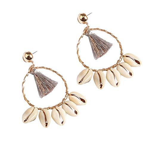 Cathy Clara Bohemian Ethnic Style Creative Golden Silk Tassel Metal Earrings Ladies Jewelry Creative Earrings for Women Sterling Hoop Earrings
