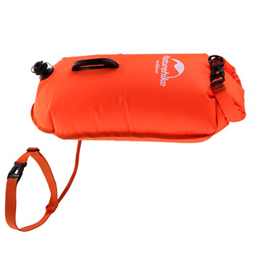 SM SunniMix Waterproof Swim Buoy Dry Bag Floatation Pull Buoys with Adjustable Waist Belt for Open Water Swimming