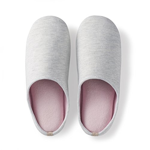 Ultra Soft Linen Lightweight Washable amp; Towel Sole Closed Foam ZENS Suede Toe Slippers Cozy House Memory Pink 7IyCq1