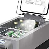 Goplus 44 Quart Portable Refrigerator/Freezer Compact Vehicle Car Mini Fridge Compressor Electric Cooler for Car, Office, Picnic Outdoor and Camping