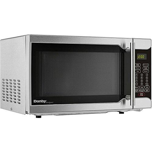 Danby Designer 0.7 Cu. Ft. 700W Countertop Microwave Oven in Stainless Steel (Packs)