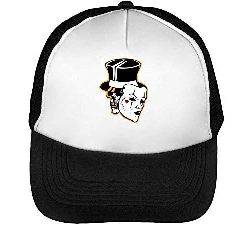 Gorras Snapback Beisbol Negro Skull Joker Blanco Hombre f6qwxF7gx