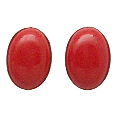 - Fundamental Rockhound: Zuni Inlay Stud Earrings Red Coral Jewelry