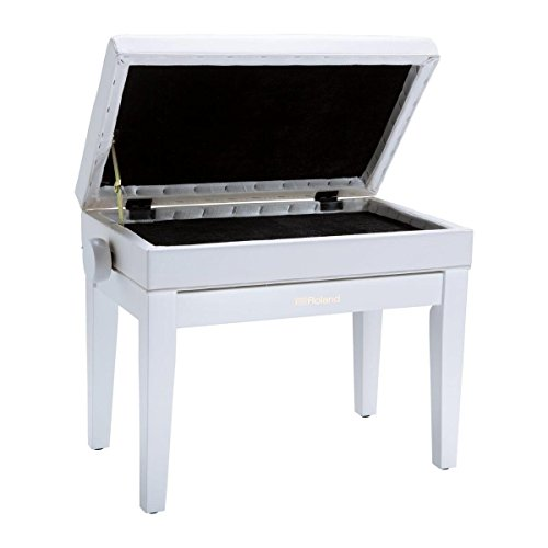 Roland RPB-400 Piano Bench with Cushioned Vinyl Seat and Storage Compartment, 18.90-22.83